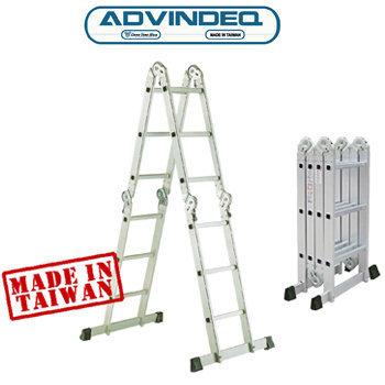 Thang nhôm gấp đa năng 4 đoạn khóa tự động Advindeq T6-125