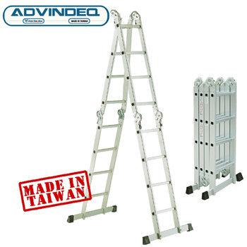 Thang nhôm gấp đa năng 4 đoạn khóa tự động Advindeq T6-165