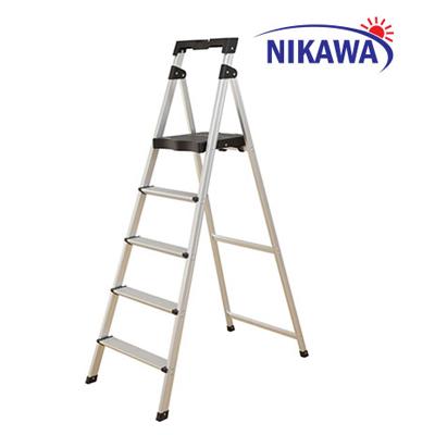 Thang nhôm ghế tay vịn 5 bậc Nikawa NKP-05