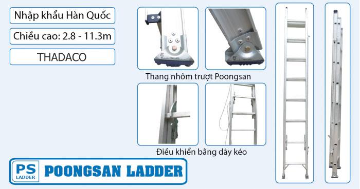 Thang nhôm trượt Poongsan