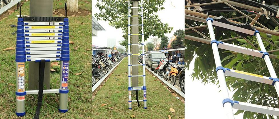 Gợi ý 5 mẫu thang nhôm rút gọn đơn cho thợ điện chuyên nghiệp