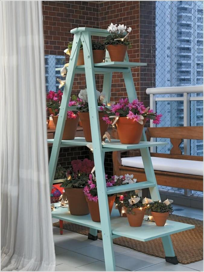 Những ý tưởng sử dụng thang nhôm trang trí nhà độc đáo