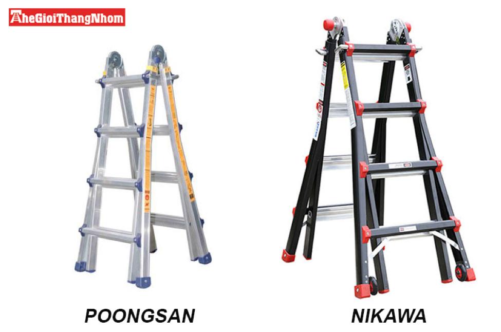 Thang nhôm Poongsan và Nikawa luôn đang là 2 thương hiệu luôn cháy hàng hiện nay