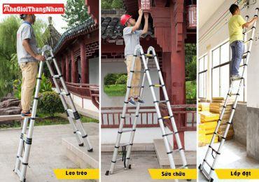 Lựa chọn thang nhôm sửa - thay bóng đèn cầu thang an toàn