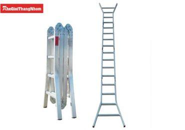 Thang nhôm 4 đoạn hỗ trợ việc sơn nhà an toàn và hiệu quả